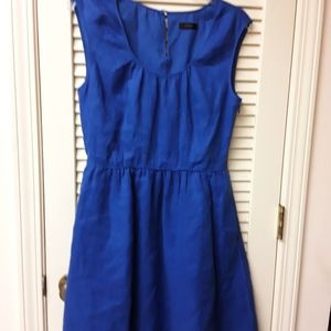Jcrew Navy Royal Blue Midi Dress M L